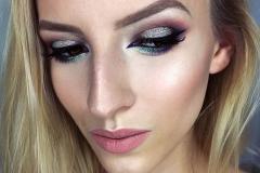 Makijaż brokatowy